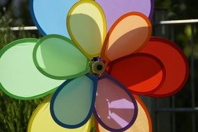 Children colorful pinwheel