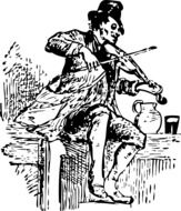 man playing on the violin