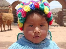 face of baby girl, Peru