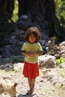 child girl in Indonesia