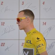 profile portrait of chris froome