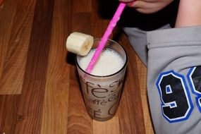 sweet milkshake with banana