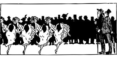illustration of dancers in the nightclub