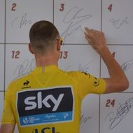 Chris Froome champion celebrity