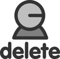 delete user icon drawing