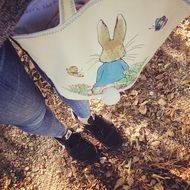 rabbit pattern on the bag