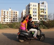india scooter family