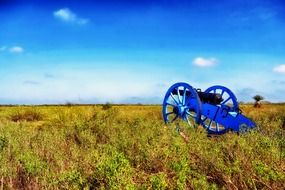 blue cannon on the battlefield Palo Alto
