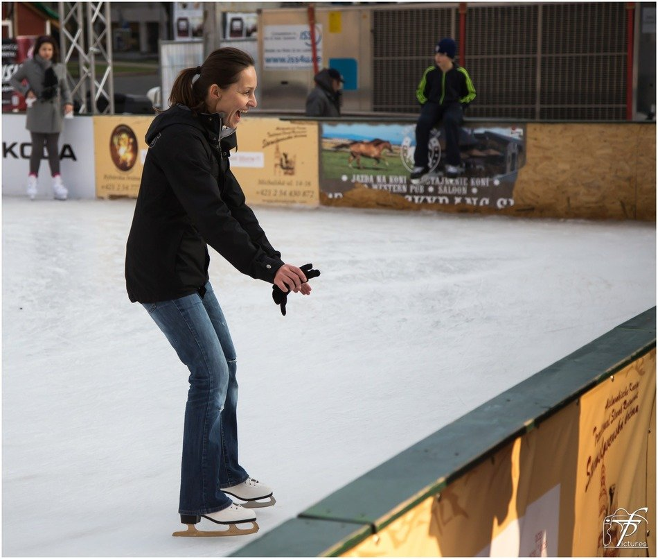woman ice-skating