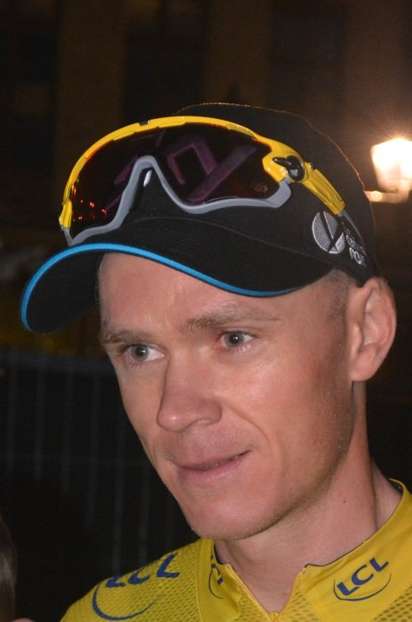 Face of a chris froome