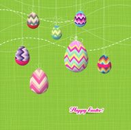 Sparkling easter eggs ornaments