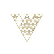 Hipster triangle linear gold background N2