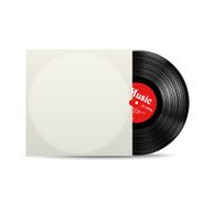 Vynil record cover box realistic vector