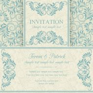 Baroque invitation blue and beige N8