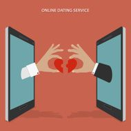 Online dating service vector concept
