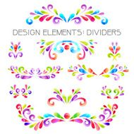 Colored dividers set