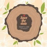 Stylish Save the Date card in pastel colors Vector romantic wall