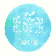 Thank you card with floral ornament