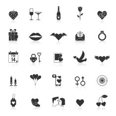 Valentines Day and wedding icons N2