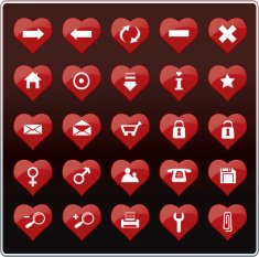 Heart Shaped Buttons (Icons)
