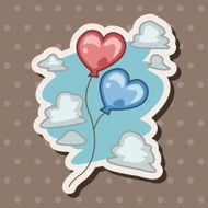 Valentine's Day balloons theme elements N5