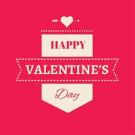 Vector happy valentines day card N13