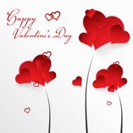 Valentine's day background with abstract hearts N3