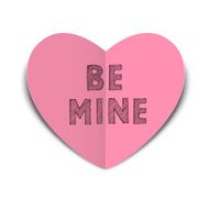 Be Mine Paper Love Heart