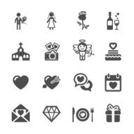 wedding icon set 2 vector eps10 N2