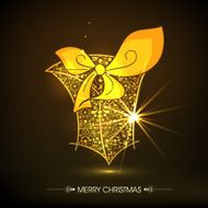 Merry Christmas greeting card design N4
