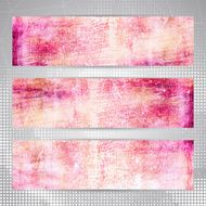 Bright pink abstract artistic banners