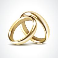 Gold Wedding Rings Isolated N2