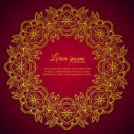 Invitation elegant template white ornamental frame N2