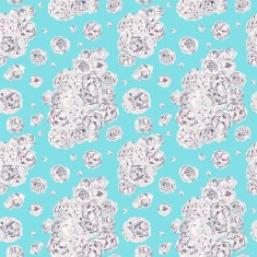 Seamless pattern with mint flowers of peonies