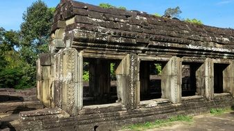 historical angkor temple in cambodia