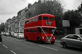 red double decker bus on england street