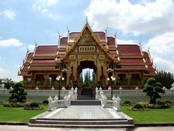 Religion Buddhist temple in Thailand