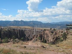 views of The Royal Gorge Bridge in Colorado, the highest bridge in the United States