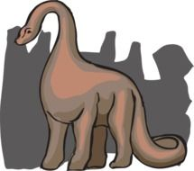 drawing of ancient prehistoric dinosaur