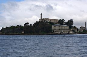 Alcatraz Island is located in the San Francisco Bay