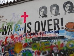 war is over street art text