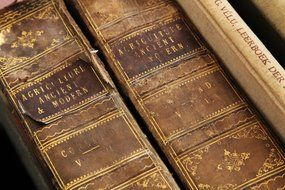 age ancient antique books brown