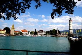 landscape of port in lindau