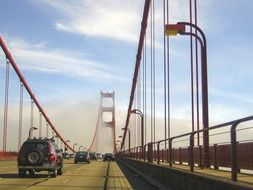 tourist sight of golden gate bridge in california