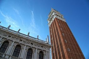 high bell tower in venice