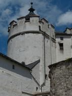 fortress with white walls in austria
