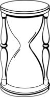 hourglass sand glass drawing