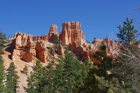 rock formation bryce canyon