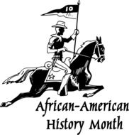 drawing of a horse rider for african american history month