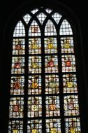 colorful glass of the church window